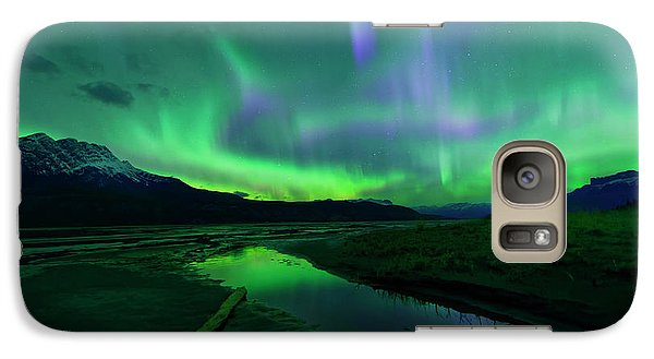 Galaxy Case featuring the photograph Electric Skies Over Jasper National Park by Dan Jurak