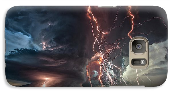 Galaxy Case featuring the photograph Electrical Storm by James Menzies
