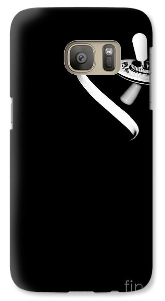 Galaxy Case featuring the photograph Elegant Black Retro Electric Guitar  by Yurix Sardinelly