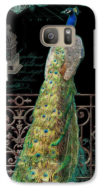 Elegant Peacock Iron Fence W Vintage Scrolls 4 Galaxy S7 Case by Audrey Jeanne Roberts