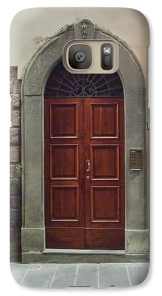 Galaxy Case featuring the photograph Elegant Tuscan Door by Michael Flood