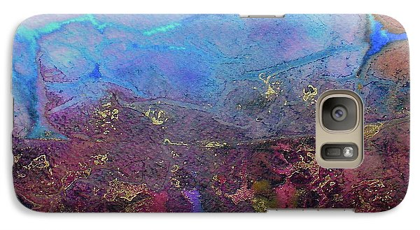 Galaxy Case featuring the painting Elemental by Mary Sullivan