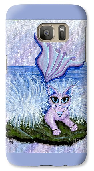 Galaxy Case featuring the painting Elemental Water Mermaid Cat by Carrie Hawks