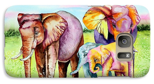 Galaxy Case featuring the painting Elephant Aura by Maria Barry