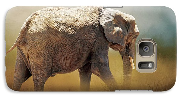 Galaxy Case featuring the photograph Elephant In The Mist by David and Carol Kelly