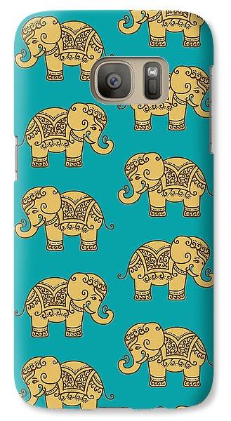 Elephant Pattern Galaxy S7 Case by Krishna Kharidehal