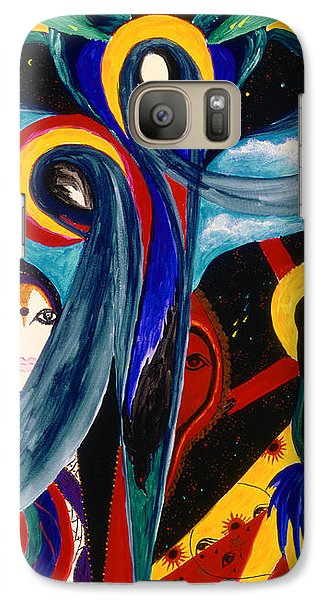 Galaxy Case featuring the painting Grieving by Marina Petro