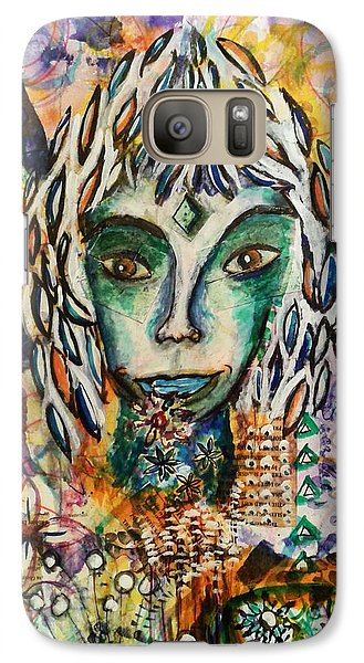 Galaxy Case featuring the mixed media Elf by Mimulux patricia no No