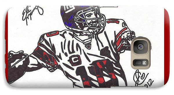 Galaxy Case featuring the drawing Eli Manning by Jeremiah Colley