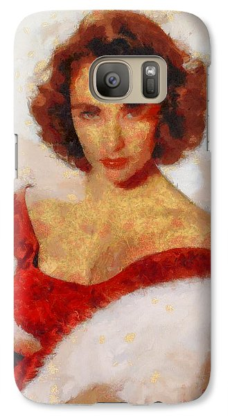 Elizabeth Taylor Actress Galaxy S7 Case