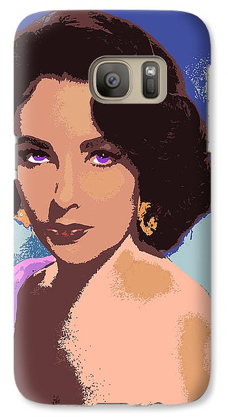 Galaxy Case featuring the painting Elizabeth Taylor by John Keaton
