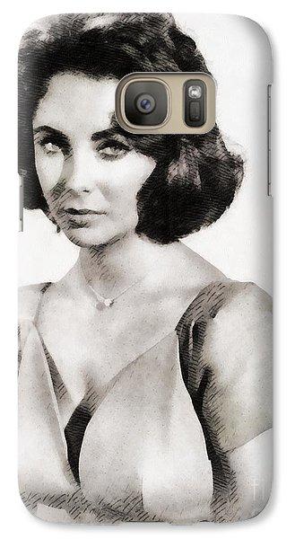 Elizabeth Taylor, Vintage Hollywood Legend By John Springfield Galaxy S7 Case