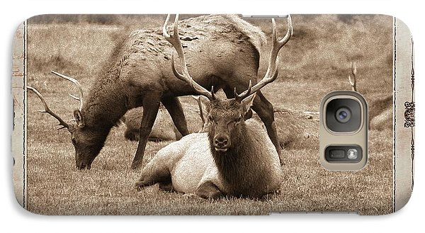 Galaxy Case featuring the photograph Elk by Athala Carole Bruckner