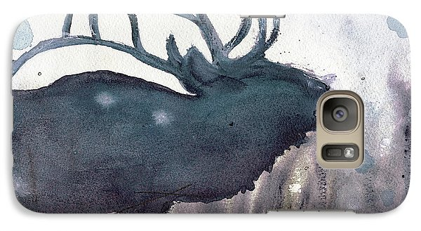 Galaxy Case featuring the painting Elk by Dawn Derman