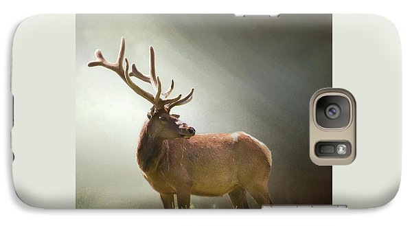 Galaxy Case featuring the photograph Elk In Suns Rays by David and Carol Kelly