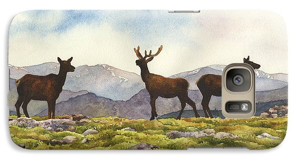 Galaxy Case featuring the painting Elk In The Evening by Anne Gifford