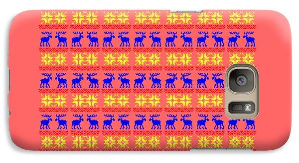 Elk Pattern Changeable Background  Galaxy Case by Sebastien Coell