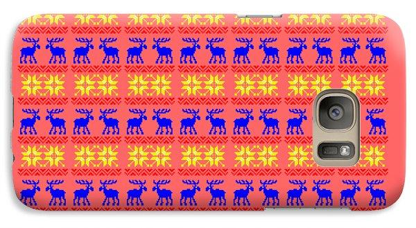 Elk Pattern Changeable Background  Galaxy S7 Case