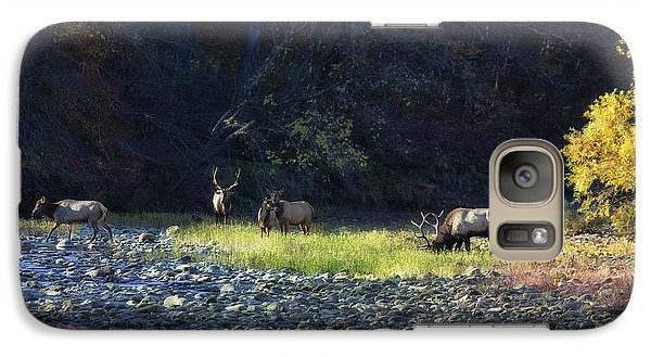 Galaxy Case featuring the photograph Elk River Crossing At Sunrise by Michael Dougherty