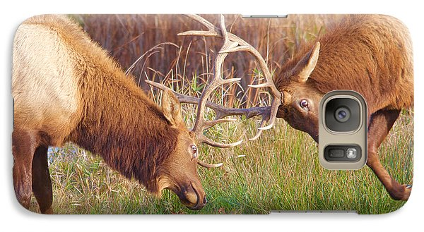 Galaxy Case featuring the photograph Elk Tussle Too by Todd Kreuter