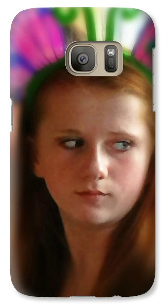 Galaxy Case featuring the painting Ella by Mindy Newman