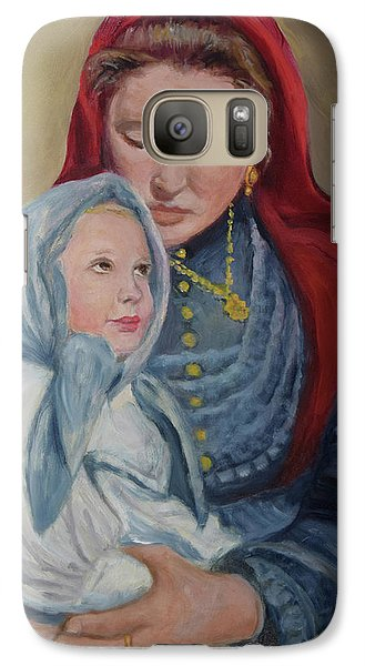 Galaxy Case featuring the painting Ellis Island Madonna by Sandra Nardone