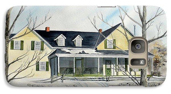 Galaxy Case featuring the painting Elmridge Farm House by Jackie Mueller-Jones