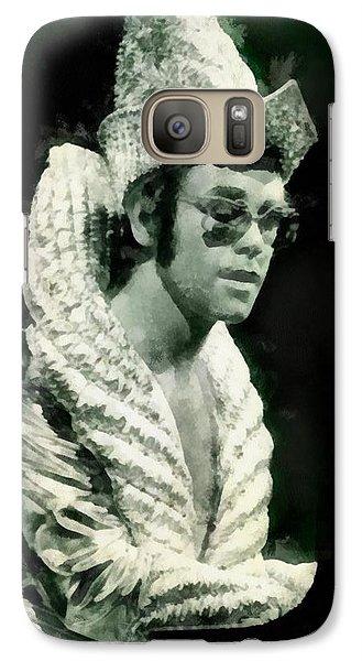 Elton John By John Springfield Galaxy S7 Case by John Springfield
