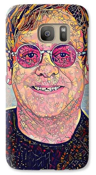 Elton John Triangles Portrait Galaxy S7 Case