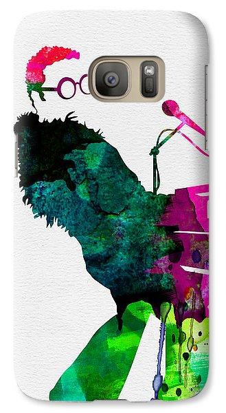 Musicians Galaxy S7 Case - Elton Watercolor by Naxart Studio