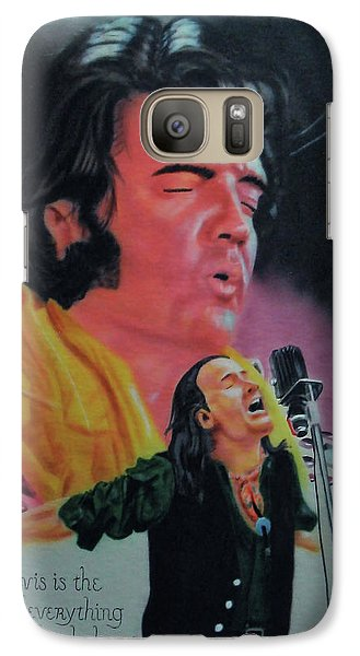Galaxy Case featuring the painting Elvis And Jon by Thomas J Herring