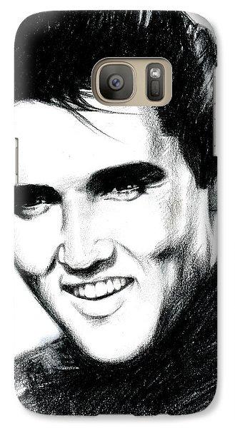 Elvis Presley Galaxy S7 Case - Elvis by Lin Petershagen