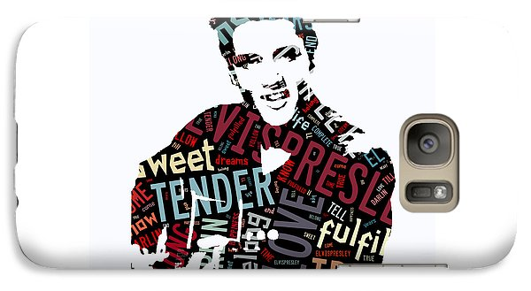 Elvis Love Me Tender Galaxy Case by Marvin Blaine