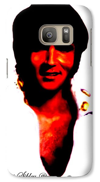 Galaxy Case featuring the mixed media Elvis By Loxi Sibley by Loxi Sibley