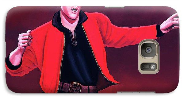 Rock And Roll Galaxy S7 Case - Elvis Presley 4 Painting by Paul Meijering