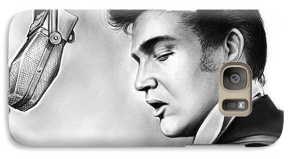 Rock And Roll Galaxy S7 Case - Elvis Presley by Greg Joens