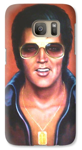 Galaxy Case featuring the painting Elvis Presley by Loxi Sibley