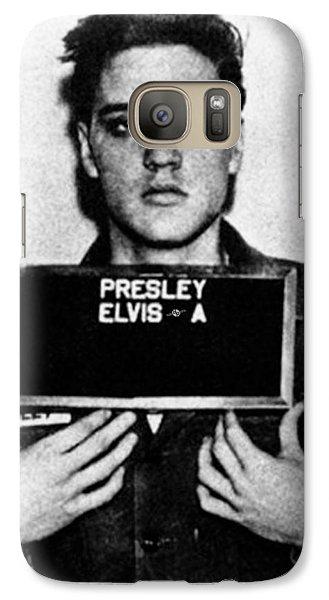 Elvis Presley Galaxy S7 Case - Elvis Presley Mug Shot Vertical 1 by Tony Rubino