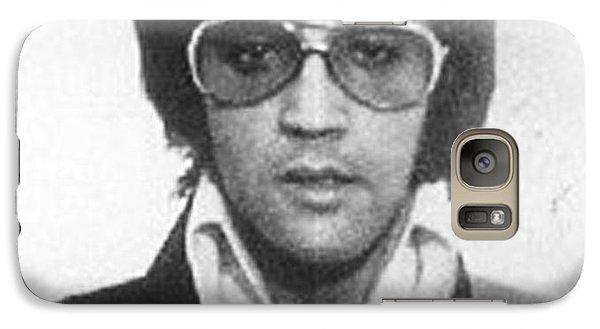 Elvis Presley Galaxy S7 Case - Elvis Presley Mug Shot Vertical by Tony Rubino