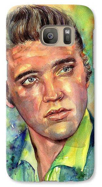 Elvis Presley Galaxy S7 Case - Elvis Presley Watercolor by Suzann's Art