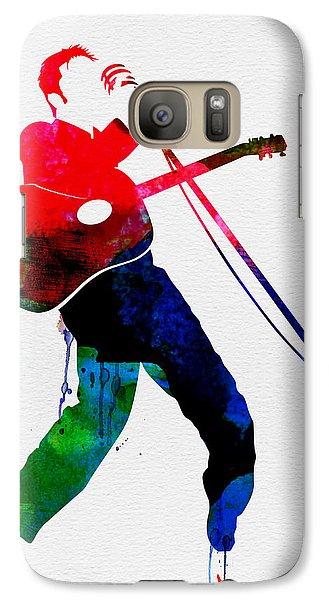 Elvis Presley Galaxy S7 Case - Elvis Watercolor by Naxart Studio