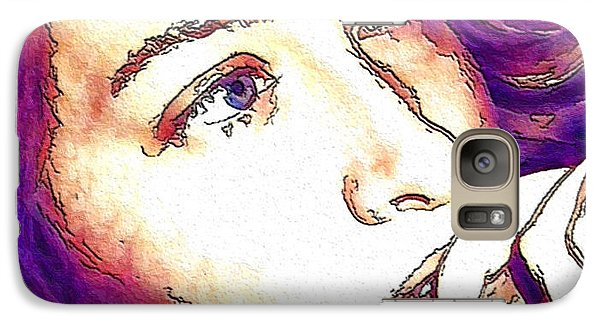 Galaxy Case featuring the digital art Ely by Ely Arsha