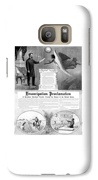 Abraham Lincoln Galaxy S7 Case - Emancipation Proclamation by War Is Hell Store