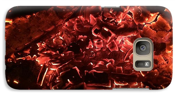 Galaxy Case featuring the photograph Embers On The Bay by Paula Brown
