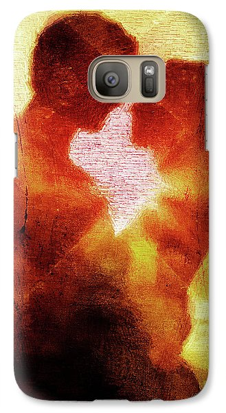 Galaxy Case featuring the digital art Embrace by Andrea Barbieri