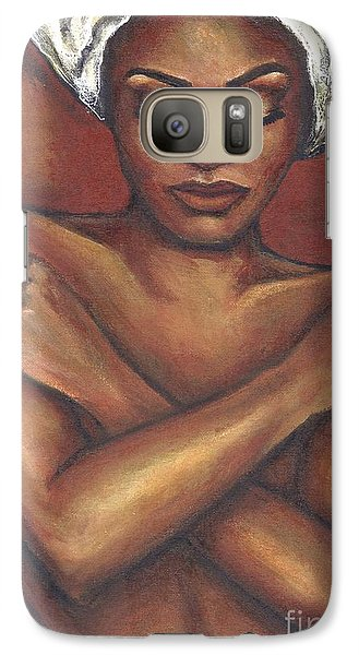 Galaxy Case featuring the painting Embrace Yourself by Alga Washington
