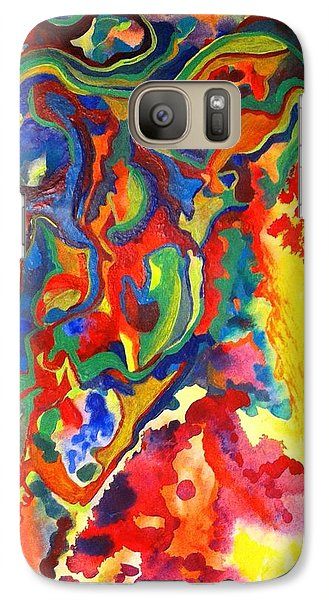 Galaxy Case featuring the painting Embroiled by Polly Castor