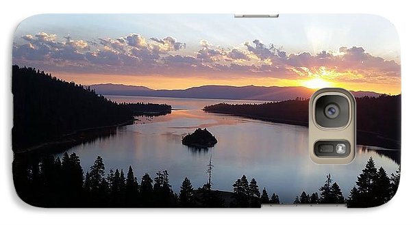 Galaxy Case featuring the photograph Emerald Bay Sunrise by Carol Duarte