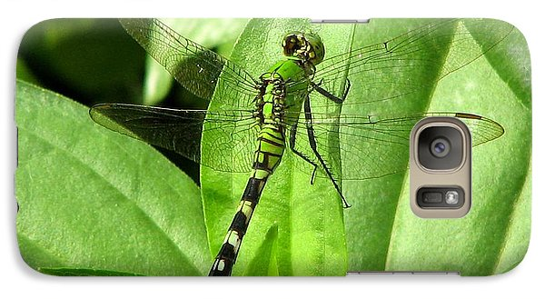 Galaxy Case featuring the photograph Emerald Dragonfly by David Dunham