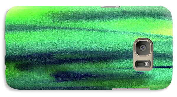 Emerald Flow Abstract Painting Galaxy S7 Case